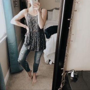 American Eagle Strappy Paisley Tank Top Tunic